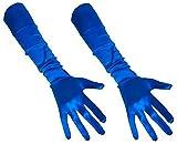 Party Xplosion Gants pour femme élégant Gants satin 48–52cm de long: Carnaval -  Bleu - Taille Unique