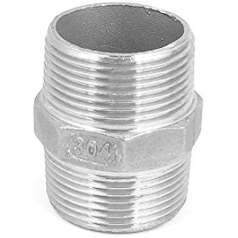 1 1 / 4BSP a 1 1 / 4BSP rosca macho hexagonal Pezón Acoplador rápido del tono de plata