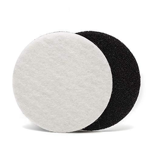 12,7cm (125mm) Velours Filz Polieren Pad (10Scheiben) Stück extra Grip Polieren für Glas, Kunststoff, Metall, Marmor