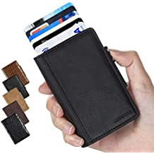 517017574 LUNGEAR Tarjetero metalico Porta Tarjetas de RFID Pop Up Caja de Tarjeta de  crédito de Aluminio