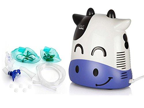 Sisi Baby Inhaliergerät für Kinder Erwachsene Inhalator Vernebler (Kuh SBC-07C)