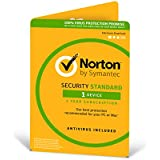 Norton Security Standard 3.0 - 1 User, 1 Device, 12 Months Digital Download (PC/Mac/iOS/Android) [Online Code]