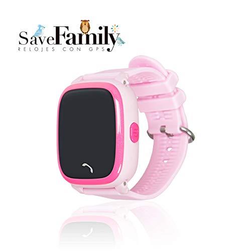 Reloj con GPS para niños SaveFamily Modelo Completo, smartwatch con Boton SOS, Permite Llamadas y Mensajes...