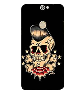 For Coolpad Max A8 funny skull, skull, black background, star Designer Printed High Quality Smooth Matte Protective Mobile Case Back Pouch Cover by APEX