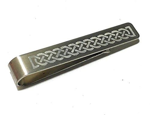 Viking Keltischer Schmuck (Keltischer Knoten Krawatte Bar Clip Tiebar Krawatten-Clip Viking nordischen Hochzeit Eternal Love Geschenk Groom Knight Mittelalter)