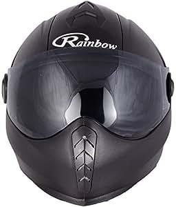 FORMAT NH09_Matte Black RAINBOW Full Face Helmet with Chrome Visor (Black_medium)