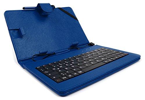 DURAGADGET Deutsche Tastatur QWERTZ-Keyboard in Blau für 5 Zoll Cubot H3 (4G) und Cubot Rainbow 2 und andere Smartphones mit OTG-Funktion