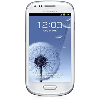 Samsung Galaxy S3 mini I8190 Smartphone (10,2 cm (4 Zoll) AMOLED Display, Dual-Core, 1GHz, 1GB RAM, 5 Megapixel Kamera, Android 4.1) marble-white