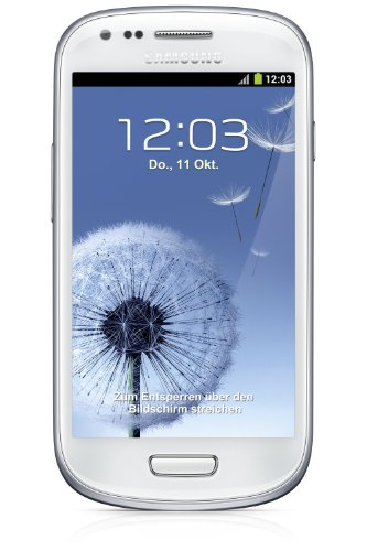 Samsung Galaxy S3 mini I8190 Smartphone (10,2 cm (4 Zoll) AMOLED Display, Dual-Core, 1GHz, 1GB RAM, 5 Megapixel Kamera, Android 4.1) marble-white -