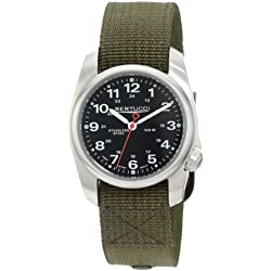 Bertucci A-1S Men's Watch - Stainless - Olive Nylon Strap - Black Dial - 10112