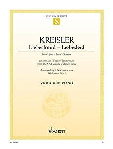 Liebesfreud - Liebesleid: aus den Alt-Wiener Tanzweisen. Viola und Klavier