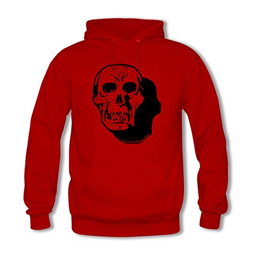 Womens Creative Black Skull Pattern Cozy Pullover Hoodies Sweatshirts D