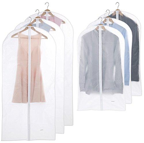 PEARL Kleiderhüllen: 6er-Set Kleidersäcke in 2 Größen, 60 x 100 cm und 60 x 135 cm...