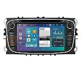 Android 10 Navigazione GPS per auto Bluetooth 2 Din Sistema multimediale per auto con touchscreen da 7 pollici per Ford C-Max Connect Supporto Fiesta Mirror Link WiFi/4G SWC DVR OBD2 DAB + (Nero)
