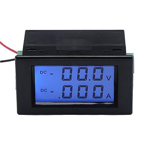 DROK® DC 0-199.9V Voltage Meter 0-1.999A Ampere Tester LCD Digital Dual Display Panel Voltmeter Ammeter for Car Battery Automobile Automotive