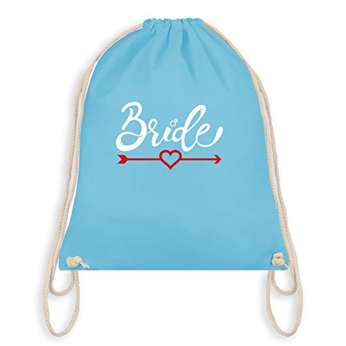 JGA Junggesellinnenabschied - Bride - Herz mit Pfeil - Turnbeutel I Gym Bag Hellblau