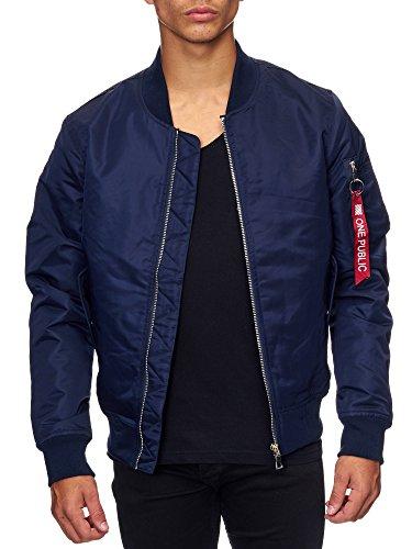 MEGASTYL Bomber-Jacke Slim-Fit navy blau, Größe:M, Farbe:Navy