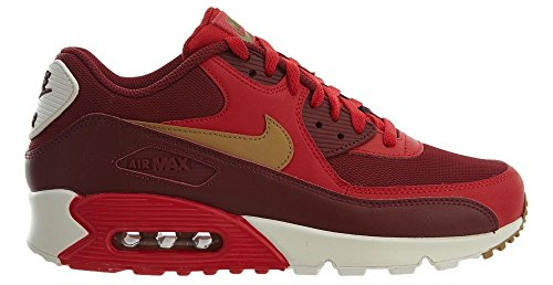 NIKE Mens Air Max 90 Essential Running Shoes Game RedElemental GoldTeam Red 537384 607 Size 9.5