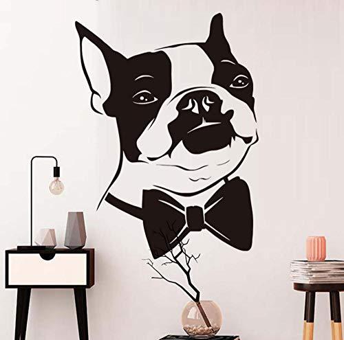 Fliege Welpen Wandaufkleber Für Kinderzimmer Dekoration Boston Terrier Dog Removable Wallpaper Poster Wandtattoos Wohnkultur 58 * 79 cm