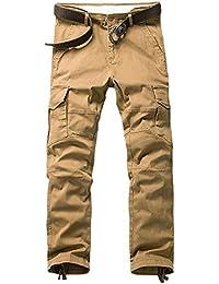 b1500795b213 BicRad Herren Cargo Hosen Lang Freizeithose Chino Slim Stoffhose Arbeit  Baumwolle