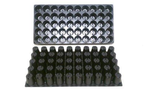 25 graines de plastique avec plateaux - Chaque Plateau Contient 50 cellules ~ cellules sont ronds 1 7/20,3 cm X 2 3/20,3 cm de profondeur. Excellent plateaux de propagation