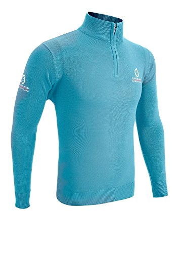 Sunderland 1/4 Zip Golf Sweater Light Blue Large