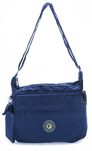 Big Handbag Shop - Borsa a tracolla donna Viola (Deep Purple)