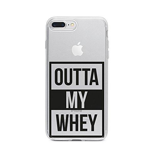licaso Apple iPhone 8 Plus Handyhülle Smartphone Apple Case aus TPU mit Outta My Whey Print Motiv Slim Design Transparent Cover Schutz Hülle Protector Soft Aufdruck Lustig Funny Druck