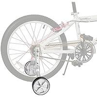 JUEYAN® 1 Par Ruedines para Bicicleta Infantil Universal Seguridad ruedines para Equilibrio de Bicicleta Estabilizador Ajustable de Ruedas Laterales de Entrenamiento para Niños,12–20 Pulgadas,Blancos