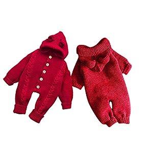 OVINEE Bebé de Punto con Capucha con Capucha recién Nacido bebé niño niña Abrigo de Invierno Abrigo de Punto con Capucha… 7