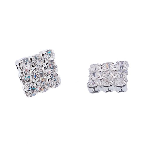 Honey Singh Style Inspired Square Cubic Zircons Magnetic Earrings Unisex Studs  available at amazon for Rs.235