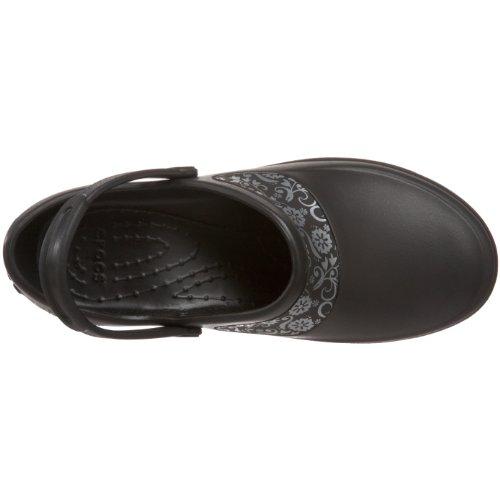 Crocs Mercy Work, Sabots - Femme Noir (Black/Silver)