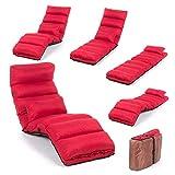 Smoothy Relaxliege klappbare Lounge Liege - 3-in-1 Sessel, Liege, Gästebett flexibel einstellbar; Rot