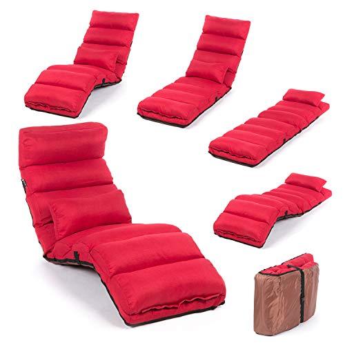Unbekannt Relaxliege klappbare Lounge Liege - 3-in-1 Sessel, Liege, Gästebett flexibel einstellbar;...
