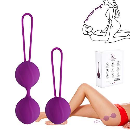 Kegel Balls Liebeskugeln Beckenbodentrainer Kugeln 2er Set Medizinisches Silikon - Perfekt für Frauen Sie zum Beckenbodentraining