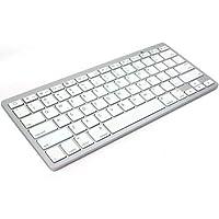 لوحة مفاتيح توصيل لاسلكي متوافق مع ماك - لون ابيض