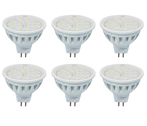 Equivalente 60W Luz Halógena Mr16 LED Bombillas Gu5.3 Spotlight 6000K Blanco Frío...