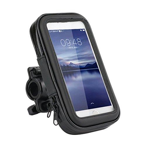Fahrradhalterung Lenkradhalterung Bike Holder Phone Holder mit wasserdichter Schutzhülle Tasche Universal für Smartphones, Handy, Navi, GPS, etc - 5.5 Zoll