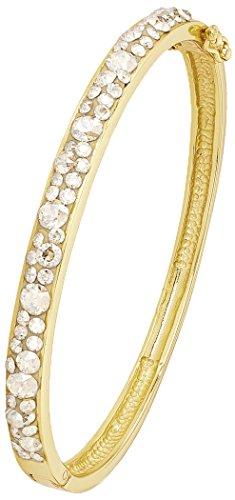 Noelani Damen-Armreif gelbvergoldet veredelt mit Swarovski Kristallen