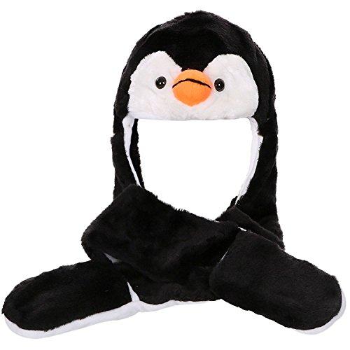 Honeystore Tiermütze Wintermütze Tier Hut Kopfbedeckung Kostüm Karneval Pinguin