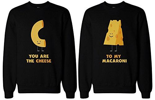 365impresión eres el queso a mi macarrones a juego BFF Sudaderas para mejor amigo Negro negro