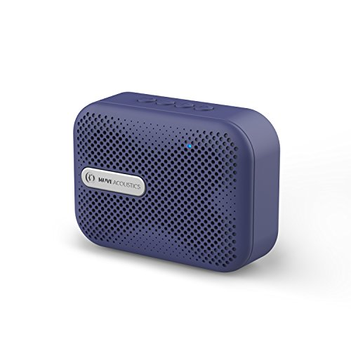 MuveAcoustics Box Bluetooth Wireless Speaker, USB, Micro SD Card slot, Mic (Flagship Blue)