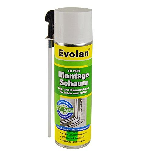 Preisvergleich Produktbild Evolan Montageschaum 1K-PUR 400ml Bauschaum Isolierschaum Füllschaum Dämmschaum