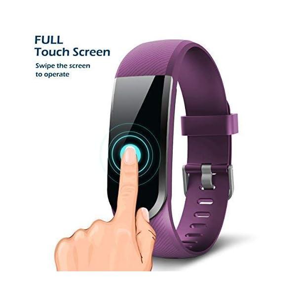 CHEREEKI Pulsera Actividad [versión Mejorada] con Control de frecuencia cardíaca podómetro Monitor, Smartwatch Pulsera… 4