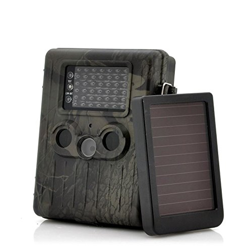 Caméra de Chasse 3G MMS Full HD 1080P Led Infrarouge Panneau Solaire