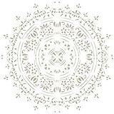Stencil Mini Deco Fondo 021 Puntilla. Medidas aproximadas: Medida exterior del stencil: 12 x 12 cm Medida del diseño:10 x 9,9 cm