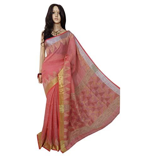 ETHNIC EMPORIUM Indisches ethnisches Leinen Jamdani Saree Sari Fancy Damenkleid 100a -