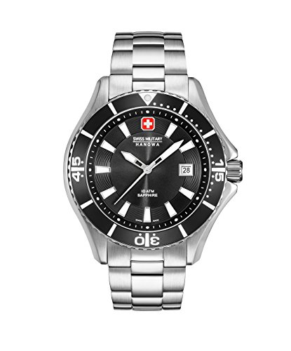 Swiss Military Hanowa Herren Analog Quarz Uhr mit Edelstahl Armband 06-5296.04.007