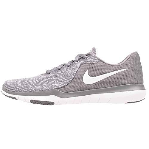 Nike - Flex Supreme Tr 6 Damen, Grau (Gunsmoke/White-Atmosphere Grey), 39.5 B(M) EU