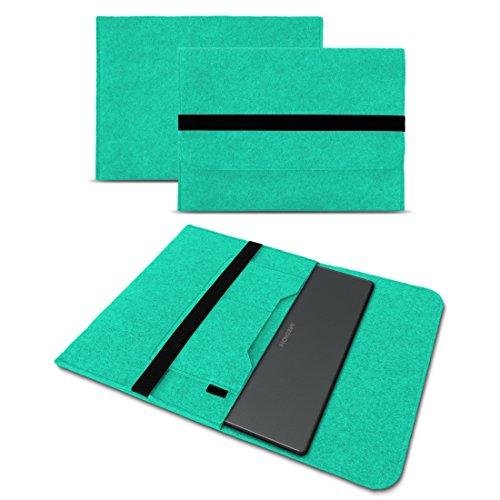 UC-Express Sleeve Hülle für Medion Akoya E3222 E3223 13,3 Zoll Tasche Filz Notebook Cover Laptop Etui Schutz Case sicherer Verschluss, Farbe:Mint
